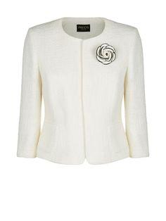 Precis Petite Textured Corsage Jacket