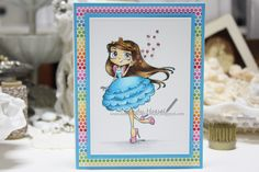 "Whimsy stamps, Jo Davies, ""Twinkle Toes"", Time for Tea Designs"