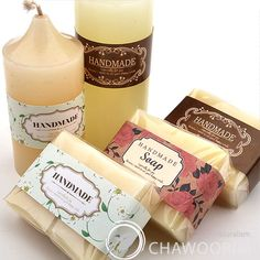Soap Packaging Ideas   ... Deco Label for Soap Baking Candle Multi Purpose Gift Packaging   eBay