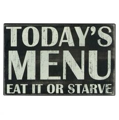 Today's Menu Box sign