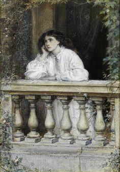 Sir John Everett Millais, PRA (British, A dream at dawn John Everett Millais, Impressionism Art, Impressionist, Pre Raphaelite Paintings, Modern Art, Contemporary Art, Edward Burne Jones, Pre Raphaelite Brotherhood, Celestial