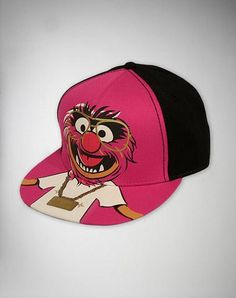 The Muppets Animal Gold Bling Flatbill Hat
