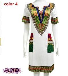Sexy African Dashiki Summer Dress
