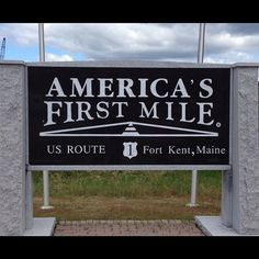 Local Landmarks are a fun way to teach kids about their local heritage and can be easy on the wallet!    America's first mile - the start of Route 1 - Fort Kent, #Maine