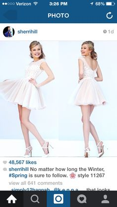 Sherri hill short high-neck white lace and polka-dot dress