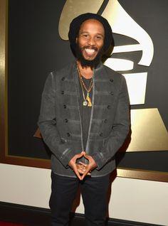 Best Reggae Album nominee Ziggy Marley arrives at the Annual GRAMMY Awards on Jan. 26 in Los Angeles Bob Marley, Marley Brothers, Grammy Awards 2014, Grammy Fashion, Marley Family, Make Mine Music, Reggae Artists, Robert Nesta, Nesta Marley