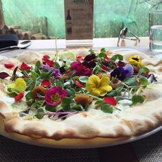 """The scent of flowers"" Flower Pizza #Pino #Bistro #Italiano #pizza #korea #bestrestaurant #foodie #foodstagram #interiordesign #hotspot #restaurant #chfe #cheflife #iloveyouflowers #pizzacrafter"