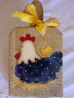 Vi presento la mia gallina, ultimo lavoro della notte (sì, perchè se non lavoro di notte, non vado avanti!!) Ho approfittato dell'idea di M...