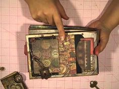 Tim Holtz Lost Paper Bag Mini Album Series Episode 3 by Chan Chan Orta (Feb Paper Bag Books, Paper Bag Crafts, Paper Bag Album, Paper Bags, Mini Albums, Mini Photo Albums, Mini Scrapbook Albums, Mini Books, Handmade Books