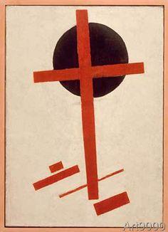 Kasimir Sewerinowitsch Malewitsch - Red Cross on Black Circle