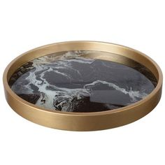 Gold Home Accessories Trays - Josué Round Black and Gold Tray. Black Gold Bedroom, Epoxy, Gold Home Accessories, Marble Tray, Aloe Vera, Black Gold Jewelry, Mdf Frame, Black Marble, Tray Decor