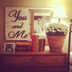 I would love this over our bed!! http://www.custombarnwoodframing.com