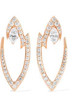 Stephen Webster   Lady Stardust 18-karat rose gold diamond earrings    NET-A-PORTER.COM ad15f691fc6d