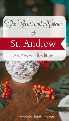 Simple ways to start the Christmas or Advent novena of St. Andrew as a family in the Catholic home, with printable prayer! Advent Catholic, Catholic Feast Days, Catholic Holidays, Saint Feast Days, Catholic Crafts, Catholic Prayers, Catholic Traditions, Catholic Kids, Catholic Saints