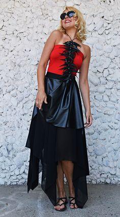 Now trending: Black Asymmetrical Skirt TS21, Double Layered Skirt, Extravagant Skirt, Black Latex Skirt https://www.etsy.com/listing/527233336/black-asymmetrical-skirt-ts21-double?utm_campaign=crowdfire&utm_content=crowdfire&utm_medium=social&utm_source=pinterest