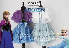 DOLLY by Le Petit Tom ® MARQUESA pettiskirt marquis blue Petticoat made from the softest chiffon. Dollyskirts come in many sizes PETTICOAT - DOLLYSKIRT Light