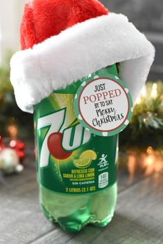 Pop Christmas Gift Idea for Friends or Neighbors This cute POP themed neighbor gift is as simple as adding a tag to a 2 liter soda and your neighbors will love it! Source by crazylittleproj Neighbor Christmas Gifts, Handmade Christmas Gifts, Neighbor Gifts, Homemade Christmas, Simple Christmas, Holiday Gifts, Christmas Holidays, Christmas Ideas, Merry Christmas