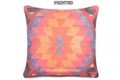 Kilim Pillow Case Blossoming Turkish