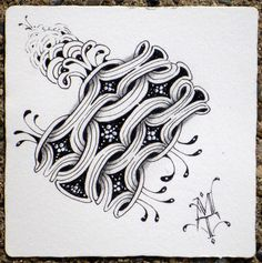 Zentangle- Life is a Challenge by Maria.