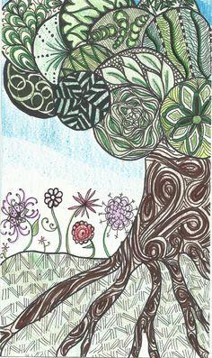 Zentangled Tree