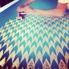 Block printing in Jaipur. Hand work makes things very special.