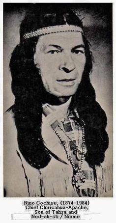 Cye Nino Cochise (the son of Tahza) - Chiricahua Apache - no date