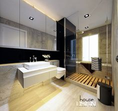 Ideas Of Modern Smart and Stylish Interiors by Bauhaus Architects Bauhaus, Room Interior Design, Interior Ideas, Condo Remodel, Shower Cubicles, Floating Vanity, Toilet Design, Layout, Amazing Bathrooms
