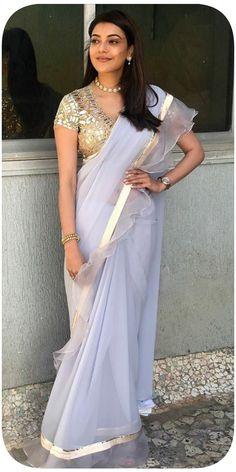 abu sandeep sarees, kajal agarwal in saree% Bollywood Photos, Bollywood Saree, Bollywood Actress, Bollywood Celebrities, Beautiful Saree, Beautiful Indian Actress, Beautiful Actresses, Beauty Full Girl, Beauty Women