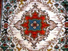 I made another version of Lili's Rug, only this one was like 6' by 5'. I must have been crazy.