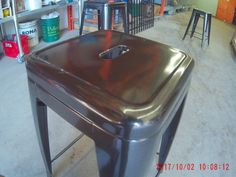 Stool powder coated brown| Durable Powder Coating