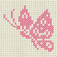 See the article for more information. Cross Stitch Bookmarks, Cross Stitch Cards, Simple Cross Stitch, Cross Stitch Baby, Cross Stitch Animals, Cross Stitching, Cross Stitch Embroidery, Embroidery Patterns, Hand Embroidery