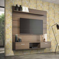 434,94 - Home Suspenso para TV até 55 Polegadas Suspenso Flat Plus 162 x 160 x 33 Macchiato - Urbe Móveis   Lojas KD
