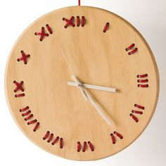 Wall Clock Red String