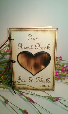 Rustic Chic Wedding Guest Book or Words of Wisdom by WildFireFlies, $30.00