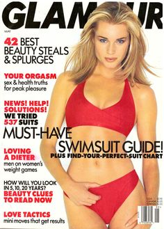 1998 Glamour Magazine Rebecca Romijn Heidi Klum Kristen Johnston Retro Ads 90a