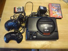 #sega genesis 1601 console bundle  nhl - sonic pinball & controllers lot tested from $69.0