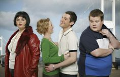 Will there be more Gavin & Stacey? Series co-creator Ruth Jones recently addressed rumors of a new special for the British series. Have you seen Gavin & Stacey? Would you like a new episode? Rob Brydon, Louise Page, Joanna Page, Ruth Jones, Fat Friend, Uk Tv Shows, Gavin And Stacey, Actor James, Friends Series