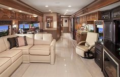 Extreme Luxury RV - Many people's homes don't have the fine and luxurious materials used to outfit the interiors of this motor home. Description from pinterest.com. I searched for this on bing.com/images
