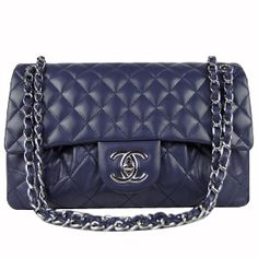 New Replica 2012 Chanel Classic Lambskin Leather Flap Bag A50635 Blue