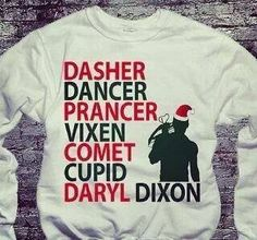 The walking dead reedus. Hahaha. I want this sweater