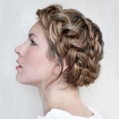 Crown hair braid