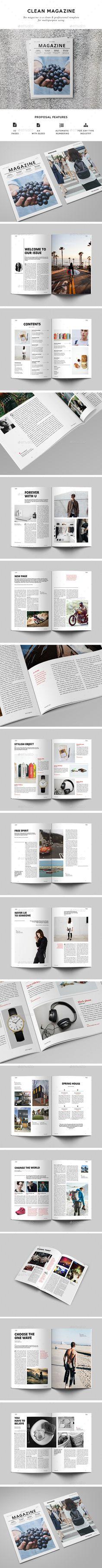 Multipurpose Magazine Template InDesign INDD. Download here: http://graphicriver.net/item/multipurpose-magazine/15682138?ref=ksioks