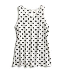 Stitch Fix Spring Stylist Picks: Black and white polka dot tank