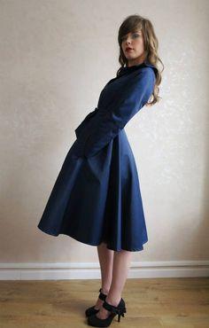 Trench bleu manteau imperméable Paulia ZAWANN créateur made in France : Manteau, Blouson, veste par zawann