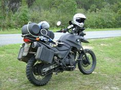 "06 BMW F650GS, Flat black ""ratter"""