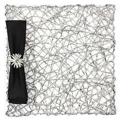 This looked really cool on the table in the store. Z Gallerie - Nest Placemat - Set of 4 - Silver