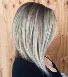This is what my hair cut looks like. I have straight hair in a long angled bob, fine to medium thickness