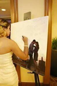 Guarda un gran recuerdo de todos tus invitados con este personal libro de firmas. #wedding #librodefirmas