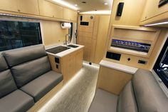 Gallery - EarthRoamer - Photo Galleries of Interiors, Exteriors, and More. Camas King, Expedition Vehicle, Tiny Living, Stacked Washer Dryer, Camper Van, Floor Plans, Home Appliances, Luxury, Gallery