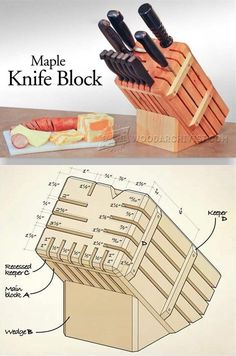 Knife Block Plans - Woodworking Plans and Projects | WoodArchivist.com